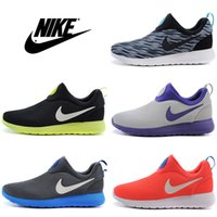 men tennis shoes - Nike Roshe Run Slip On Running Shoes Men Women Good Quality Trainers Olympic Lazy Jogging Boots RosheRun Discount Sport Shoes Size