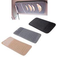 aluminum clipper case - 12pcs Disks Car CD Holder Auto Visor DVD Disk Card Case Clipper Bag Car Styling Interior Organizer Cover stowing tidying