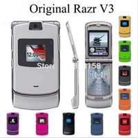 unlocked t-mobile cell phones - 100 Original RAZR V3 Unlocked GSM ATT T Mobile Cell Phones Mobile Calassic Black Red original Colors