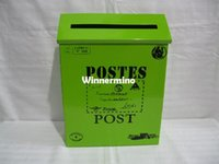 metal mailbox - 1509 Wall Mount mailbox post box letter box mail box tin box Metal postbox vintage mailboxes
