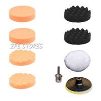 Wholesale 8Pcs Polishing Auto Car quot Buffing Pad Polishing wheel Kit M14 Drill Adapter