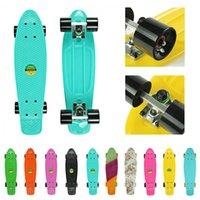 Wholesale Retro Mini Cruiser quot Plastic Skateboard for Chlidren
