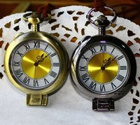 classical pocket watch - DH054 Vintage Classical Magnifying Glass Quartz Pocket Watch Necklace Dia cm dandys