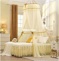 Cheap 1509 2015 Mosquito Nets Curtain for Bedding Set 5 Colors Princess Bed Canopy Bed Netting Tent Mosquiteiros De Teto Magic Mesh
