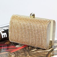Wholesale Factory Retaill brand new wellmade adorable diamond evening bag clutch with satin for wedding banquet party porm More colors