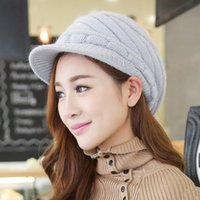 Wholesale 10 New Arrivals fashion hats beanies young girl Lady Winter Warm Knitted Crochet Slouch Baggy Beret Beanie Hat Cap beret berets
