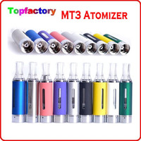 Wholesale Evod MT3 Atomizer clearomizer for ego electronic cigarette Evod atomizer MT3 TANK for e cigarette kits Various Colors DHL Fast Free