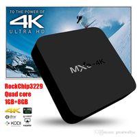 Wholesale MXQ K Wifi TV BOX Rockchip RK3229 Quad Core IPTV Kodi15 Android TV box Kitkat GB GB XBMC fully Loaded WIFI Airplay Miracast TVR36
