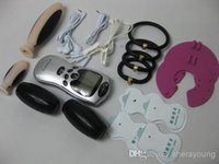 Wholesale 6 in BDSM Bondage Gear Kit Electro Electric Shock to Penis Breast Anus Vagina Ear finger Labia Masturbator Sex Toys Products for Couples