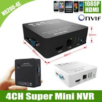 Wholesale 4CH N6200 E Onvif P Network Video Recorder HDMI VGA Output Super Mini NVR for IP Camera with P2P Cloud