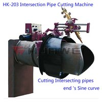 bevel cutting machine - Shanghai HUAWEI HK Intersection Pipe Cutter Gas Flame Gas Cutting Machine for Cutting Intersecting pipes Bevel cutting