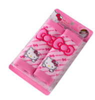 pink car seat covers - Interior Accessories Seat Covers pair set Cute Hello Kitty Pink moto car Seat belt covers pink Cartoon car seat belts and Paddings