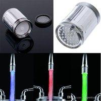 Wholesale Glow Water LED Faucet Tap Stream Light Temperature Sensor Kitchen Bathroom accessories Colors torneira cozinha grifos cocina A3