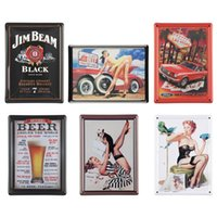 Cheap Vintage Antique Humor Mini Metal Tin Sign Art Tavern Garage Pub Home Wall Decor Free Shipping