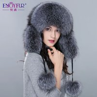 Wholesale Unisex fur hat for winter whole fox fur raccoon fur cap Russia new fashion style women real fur hat high end hot sale