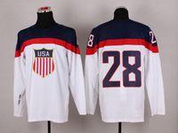 Wholesale Blake Wheeler White Jerseys Sochi Olympic Team USA Hockey Jersey National Team Hockey Wears Mens Uniforms with On Sleeve