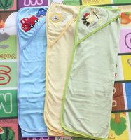Wholesale 2013 NEW cm Cartoon Cotton Kids Baby Blanket mat for Infant Bath robe Blanket Color random for boy and girl