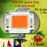 Wholesale 4pcs W Full Spectrum led grow lights cob W chip led GROW LIGHT for diy led plant grow ligh chip nm growing CHIAN
