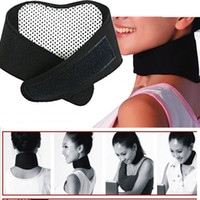 Wholesale 1 Health Care Self Heating Tourmaline Magnetic Neck Heat Therapy Support Belt Wrap Brace Massager