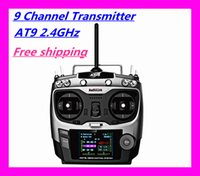 rc transmitter and receiver - More New G ch System at9 RC radio transmitter and Radio Receiver tx rx for drone Helicopter Remote Control