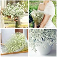 dried flowers - 2016 Fashion Gypsophila Baby s Breath Artificial Flowers Fake Silk Flowers Plant Home Wedding Decoration for Party