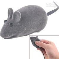 Wholesale Lifelike Mini Mouse Simulated Mice Toy with Sound Effect for Cat Pet Color Assorted