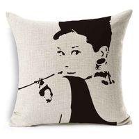 audrey hepburn bedding - New HomeDecor Bed Seat Throw Pillow Case quot Vintage Audrey Hepburn Pillowcase Character pillowslip Xmas gift