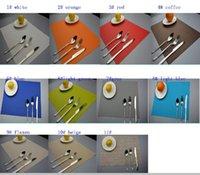 anti slip placemats - High Grade Placemats Table Mat Dining Mat Textilene PVC Insulation Anti Slip Pad Antibacterial Flame Retardant cm Reusable