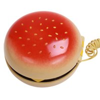Wholesale Telephone Mobile Juno Hamburger Cheeseburger Fun Burger Voice Telephone Home Desktop Corded Phone NQ679909