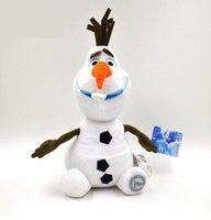 Wholesale Hot Frozen Olaf Soft Cartoon cm Throw Cushion Sofa Pillow Snowman Action Figures inches Children Christmas Toys Xmas Gift F034