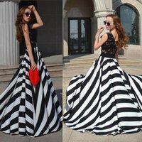 Wholesale 015 Lady Evening Lace Stripe Long Maxi Sleeveless Dress Party Sweep Train Beach2015102