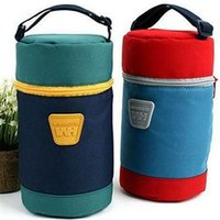 Wholesale Multi functional mummy bag baby car Insulation bottle bags Mom travel portable carry handbag baby bottle insulation lunch bag
