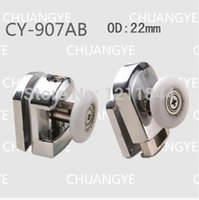 bathroom showers doors - Bath room pulley Arc shower alloy swing single wheel shower room accessories bathroom sliding door hanging wheel set