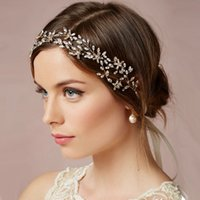 baguettes jewelry - Crystal Hair Accessories Tiaras For Bride Navette Crystal Leaves and Baguette Flowers Hair Loops Clasp Headband Bridal Jewelry Headpiece