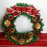christmas garland - 30cm Christmas Garland Gift Luxury Christmas Tree Wedding Wreath Flowers Wreath For Hotel And Mall Or Market Muilt Beautiful Christmas ZC