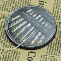 Wholesale 30Pcs Assorted Hand Sewing Needles Quilt Embroidery Mending Craft Sew Case MCB A23