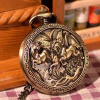 antique watch values - Antique Magic Roman Half Hunter Vine Copper Steel Hollow Skeleton Hand Wind Mechanical Value Quality Pocket Watch Long Chain
