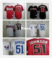 baseballs freights - 30 Teams High quality Randy Johnson Baseball jersey Arizona Diamondbacks jersey S XL fast air freight