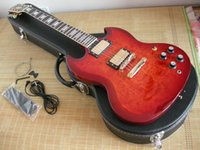 Cheap HOT Wholesale High-quality mahogany body Gold hardware SG SG400 sunset clouds red Electric Guitar With Hard Case