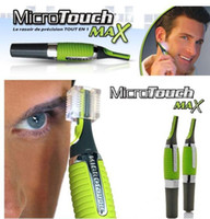 battery powered trimmer - Micro Touch Magic Max Facial Cleaner Battery Powered Men Shaver Ears Hair Trimmer Shaver Built In Light