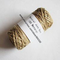 Wholesale meters M Rolls Natural Jute Twine Cord Ply Thread Package Rope DIY Making String Gift Craft Packing
