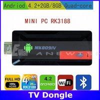 Wholesale MK809 IV Quad Core TV Box Stick Media Player Google Android RK3188 GB RAN GB WIFI P HDMI Smart TV Dongle MK809IV
