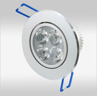 Wholesale 12W Dimmable LED Downlights Round with driver LED lights ceiling light downlight free ship