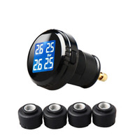 Wholesale New TPMS Tire Pressure LCD Display Monitoring System Wireless External Sensors