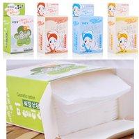 Wholesale High Quality Cleansing handkerchief Makeup Remover Cotton Tissue Towel Beauty Accessories quot BOX Color Random