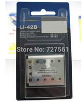 Wholesale LI B LI42B Li B B Camera Battery for OLYMPUS U700 U710 FE230 FE250 FE340 FE290 FE320 FE360 U1040 X915 VR320 VR330 FE5000