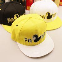 yellow baseball hat - 2014 New Cute Design Sample Character Snapback Fashion Color Patchwork Baseball Cap Yellow Duck Men Women Hip Hop Hats