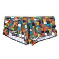 Cheap High Quality Men Swimsuits Swim Boxer Shorts Trunks Mens Sexy Swimwear Swim Boxers Gay Penis Pouch Surf Board Shorts Nylon