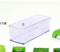 Wholesale 50pcs New Nicer Dicer Plus Vegetables Fruits Dicer Food Slicer Cutter Containers Chopper Peelers Set of kitchen tools
