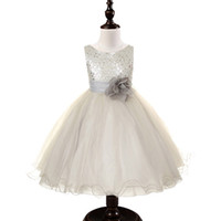 kids prom dresses - Kid prom dresses New fashion Girls Lace sequins Princess Dress sleeveless knee length years Girls Clothes princess pageant dress